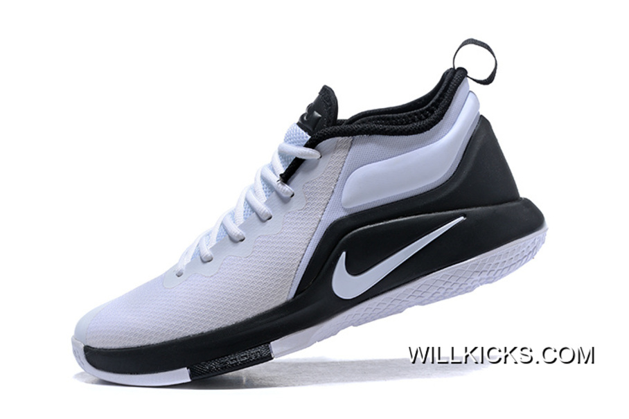 5f3ecaa63a3d ... sweden free shipping nike lebron zoom witness 2 white black basketball  shoes ceb1d b5bc6