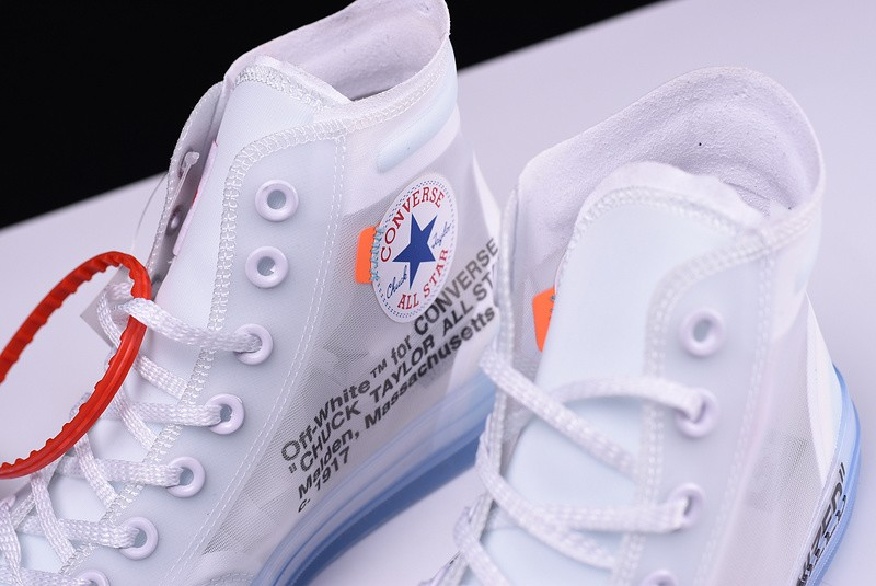 Outlet Off-White X Converse Chuck Taylor All Star High Tops White ... 7197fb1732