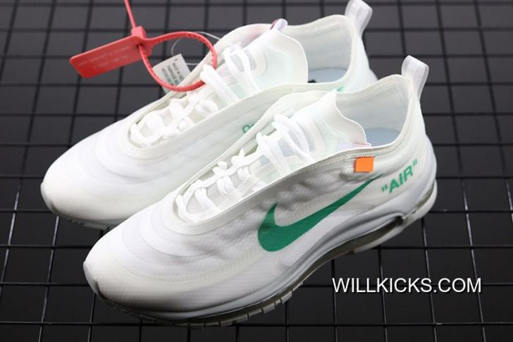 Big Deals Men OFF WHITE X Nike Air Max 97 Menta Running Shoe