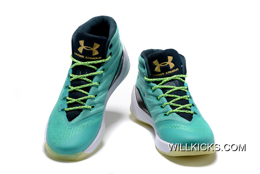 """88c9dfa17eef Free Shipping Under Armour Curry 3 """"Reign Water"""" Neptune Sable-Metallic Gold"""