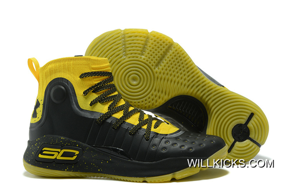 Under Armour Curry 4 Yellow Black New